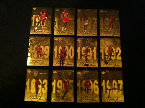 Michael Jordan 1998 Upper Deck Gatorade Jumbo Card Set